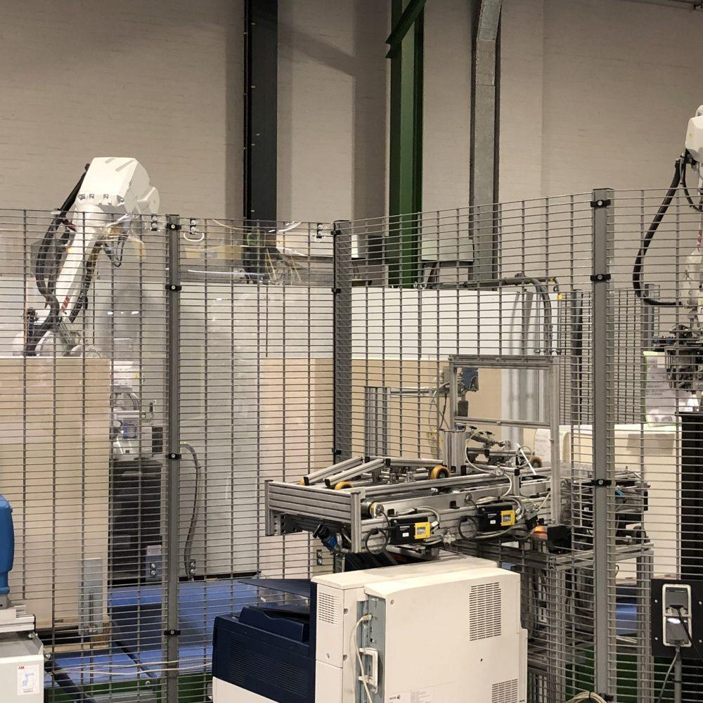 Pyroll Winschoten automatic labelling robot a sheet counting robot