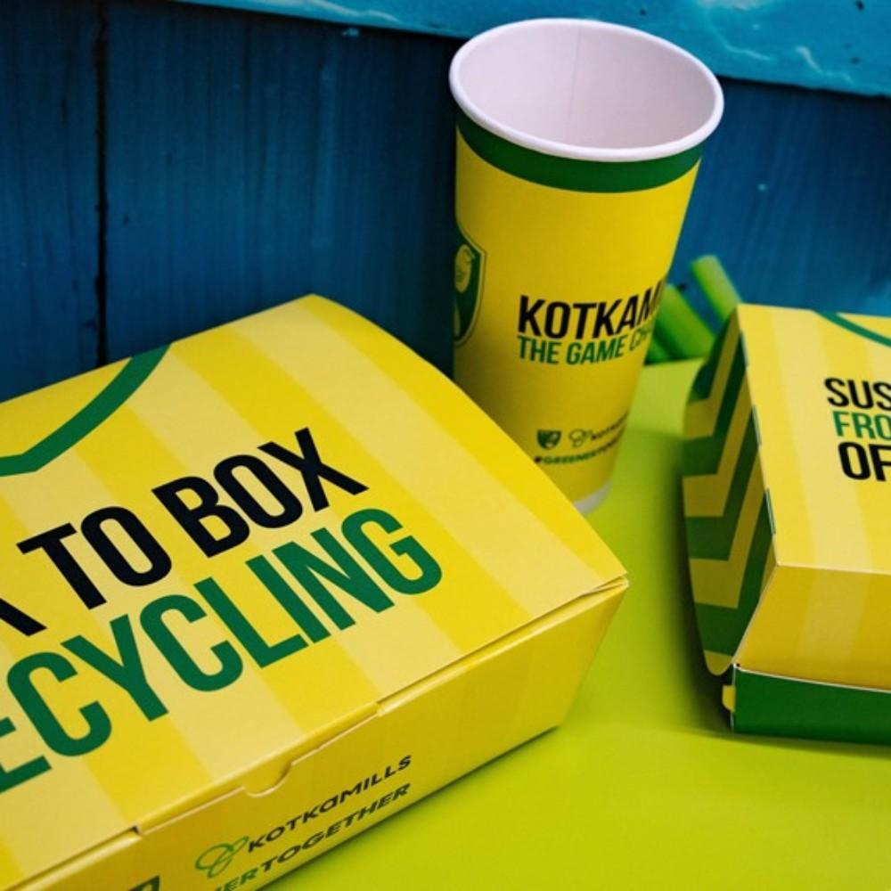 pyroll packaging norwich city fc packagemedia takeaway fast food box sustainability
